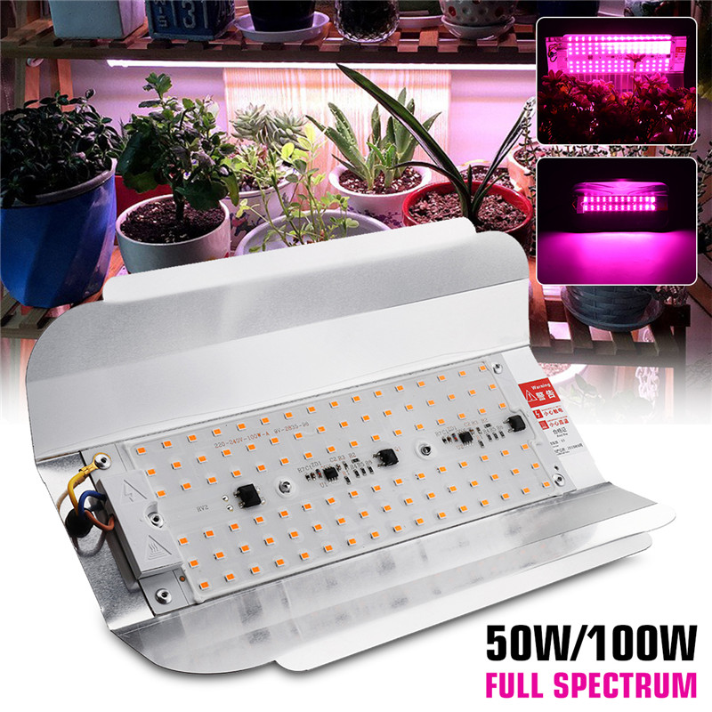 Volle Spektrum <font><b>50W</b></font> 100W <font><b>LED</b></font> Phyto Flutlicht 5730smd 60lm/W High Power <font><b>LED</b></font> Wachsen Licht Hydrokultur aussaat AC220V IP65 Wasserdicht image