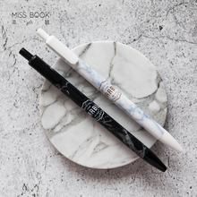 1PC Marble Texture Gel Pen Portable 0.5mm Black Full Needle Simple Style Pens For School Supplies Office Writing Stationery