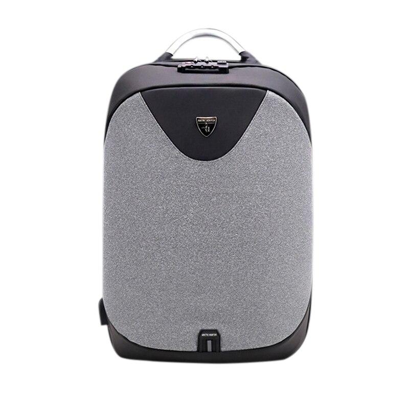 502c94b5edae Арктический Охотник Новый Противоугонный 15,6 ноутбук мужская сумка Школьный  Пароль замок рюкзак непромокаемый повседневный