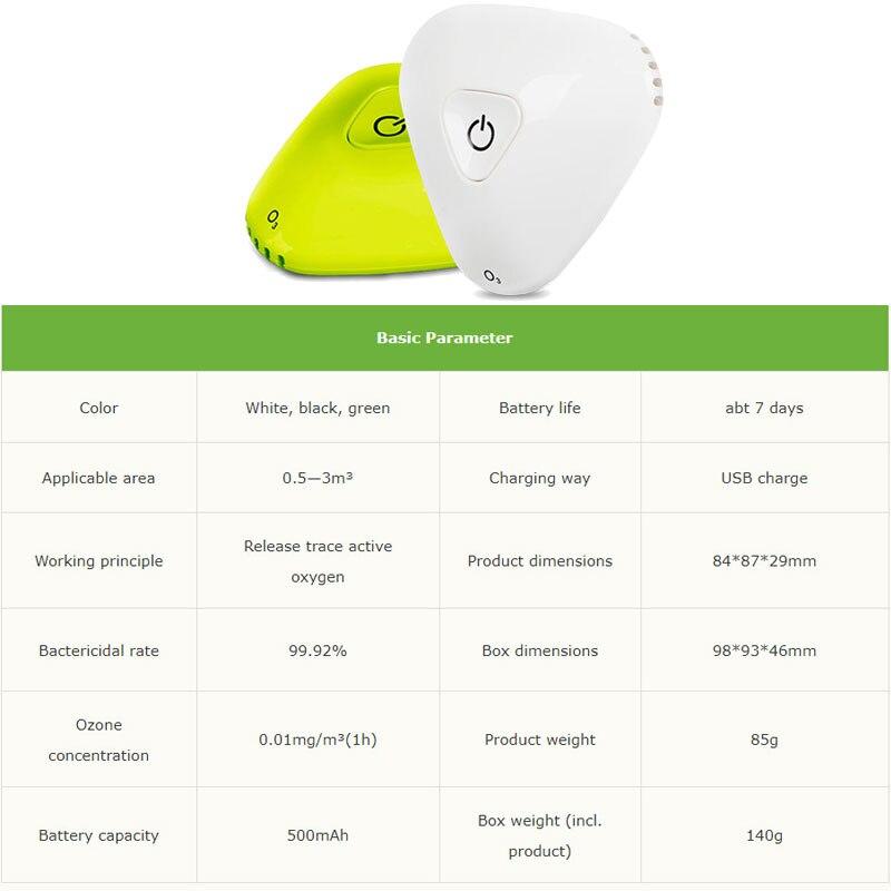 Mini Ozone Generator Air Purifier Home Cleaner Air Sterilizer Remove Odor Formaldehyde Sterilization Refrigerator DC5V 2mg