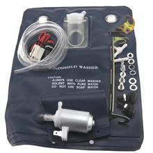 12V 1 Liter Water Capacity Car Window Cleaning Windshield Washer Auto Washer Pump Bag Kit 151286776374