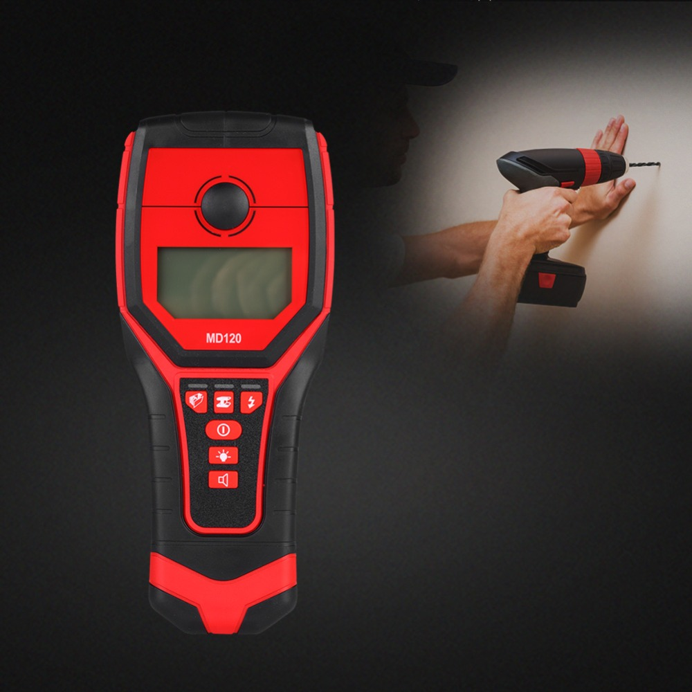 MD120 Sensitive Wall Metal Detector AC Live Wire Wood Finder With LCD Display 2019 New(China)