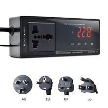 купить Digital Display Intelligent Plug-In Thermostat Universal Socket ON/OFF Regulator Aquarium Greenhouse Temperature Controller онлайн