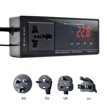 Digital Display Intelligent Plug-In Thermostat Universal Socket ON/OFF Regulator Aquarium Greenhouse Temperature Controller - DISCOUNT ITEM  29 OFF Home & Garden