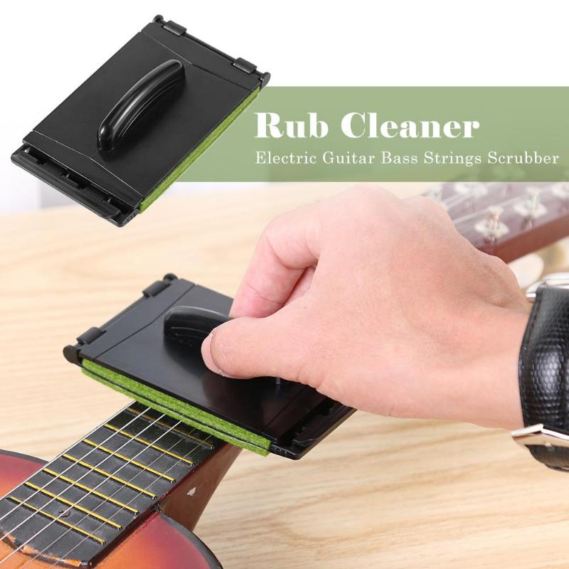Fashion Style 1pc Guitar Strings Fingerboard Scrubber Rub Cleaning Maintenance Care Cleaner Bass Care Cleaner Bass Guitar Accessories Soft And Antislippery Guitar Parts & Accessories