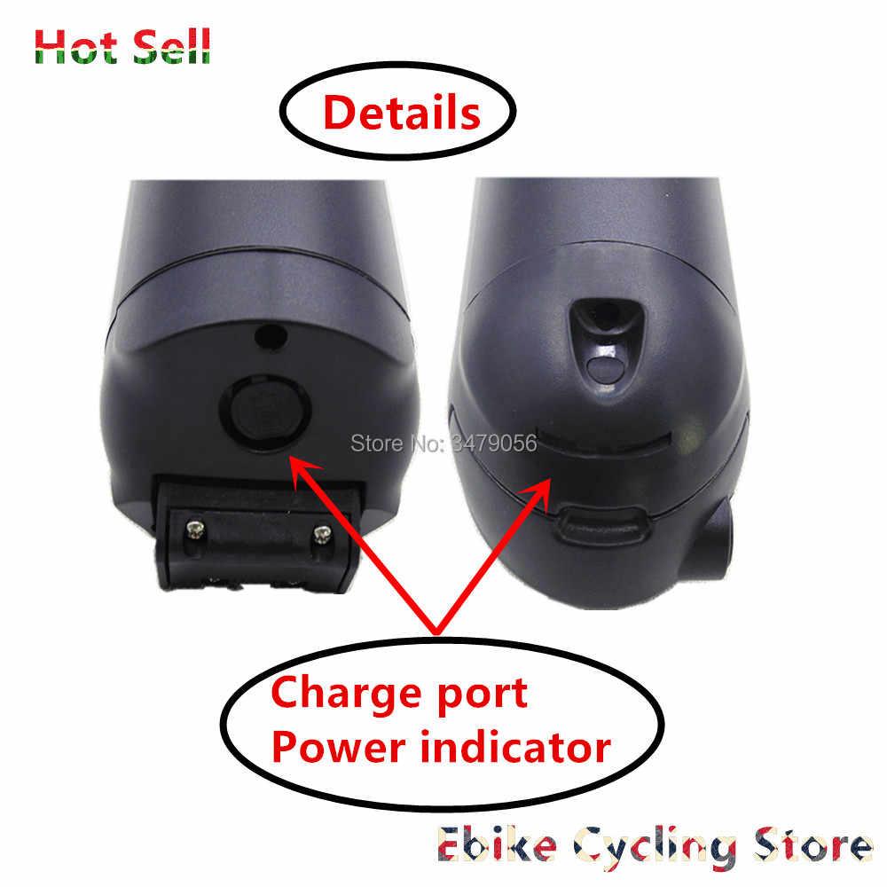 Envío Gratis mini botella de luz de tubo de fino algodón Down delfín pequeño batería de bicicleta de iones de litio para 36v 250w 350w 500w motor de batería de bicicleta eléctrica
