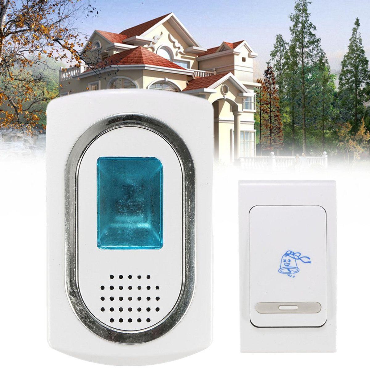 Wireless Digital Cordless Doorbell Home Wall Plug-in 36 Music Chimes Door  Bell 100M Range  9V 15W Door Ring Alarm Bell