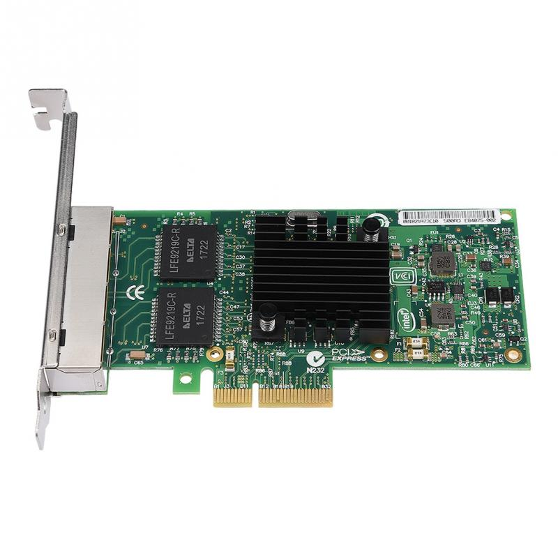 US $37 11 47% OFF|4 Port PCI E Gigabit Network Card for Intel 82580 Server  Adapter-in Network Cards from Computer & Office on Aliexpress com | Alibaba