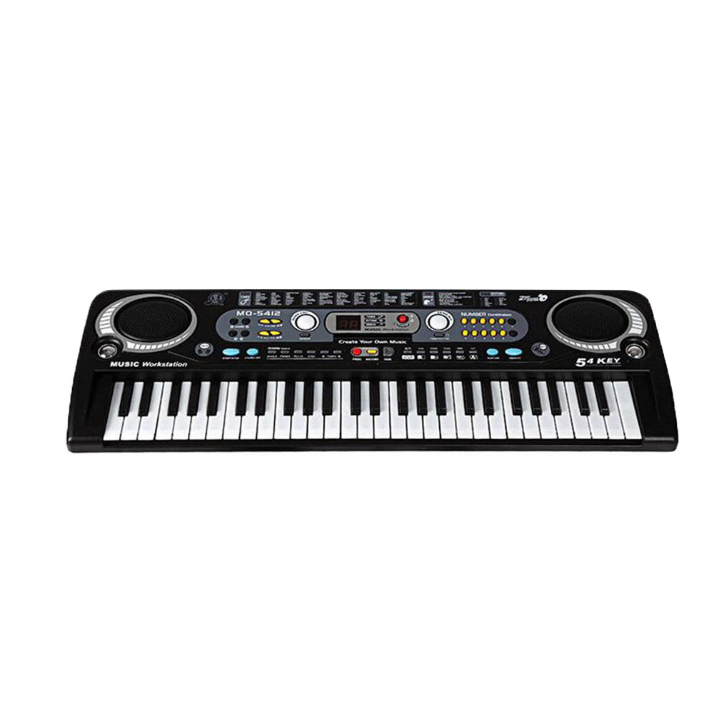 54 Keys Digital Electronic Keyboard & Microphone Electric Led Adult Size