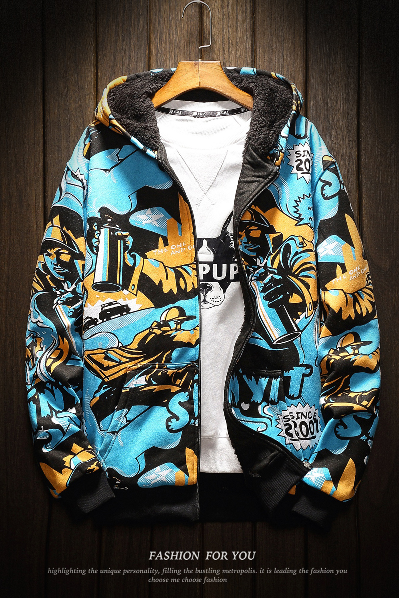 2018 winter New Fashion Hip hop Printing Even Midnight Loose Coat hoodies hip hop Cartoon streetwear overwatch Free shipping in Hoodies amp Sweatshirts from Men 39 s Clothing