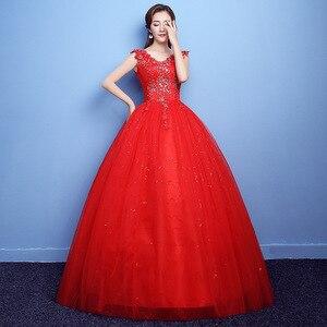 Image 3 - Vestido דה Noiva 2020 V צוואר אדום ואגלי ללא משענת Quinceanera שמלות טול קריסטל כדור שמלת אלגנטי Quinceanera שמלות