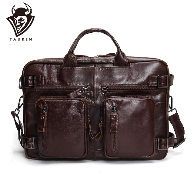 Tauren Genuine Leather Men Shoulder Bag Handbag Vintage Cowhide Crossbody Bag Tote Business Casual Men Messenger Bag