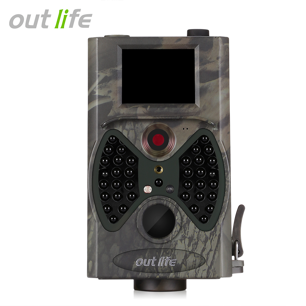 Outlife Trail-Camera Video-Scouting Night-Vision Infrared 12-Mp 1080P IR HD Leds