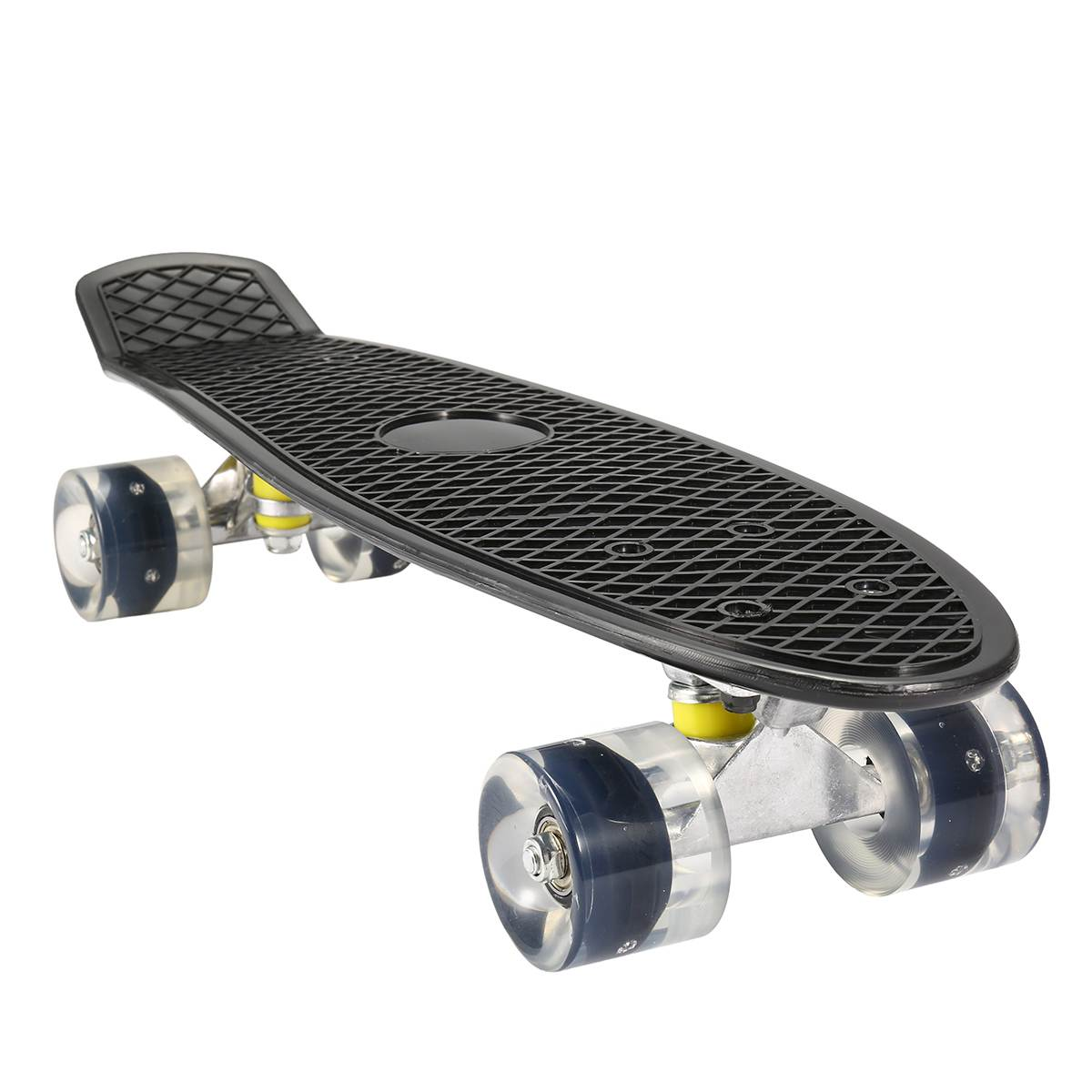 22 pouces Mini planche à roulettes en plastique planche à roulettes roue en polyuréthane avec LED lumières Cruiser complet Skateboard Sports enfants enfants cadeaux unisexe - 2