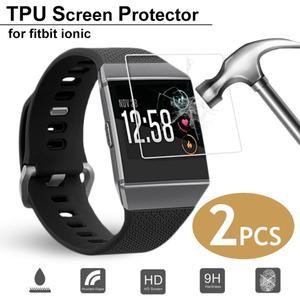 Image 1 - Hot Bán 2 PCS Vòng Đeo Tay Thông Minh HD Explosion Proof Ultra Mỏng Bảo Vệ Màn Hình Rõ Ràng Xem Cho Fitbit Ionic smartwatch New 2019