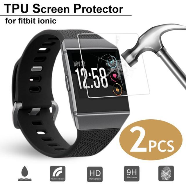 Hot Bán 2 PCS Vòng Đeo Tay Thông Minh HD Explosion Proof Ultra Mỏng Bảo Vệ Màn Hình Rõ Ràng Xem Cho Fitbit Ionic smartwatch New 2019