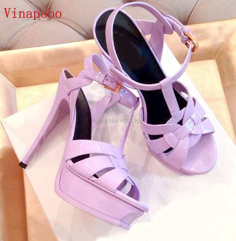 Vinapobo 11colors NEW 2019 WOMEN shoes womn 14 10cm high heels platform shoes pump sexy party wedding brides sandals woman in High Heels from Shoes