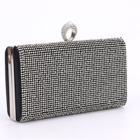 Women Diamonds Rhinestone Clutches Crystal Day Clutch Wallet Wedding Purse Party Banquet Evening Bag For Female