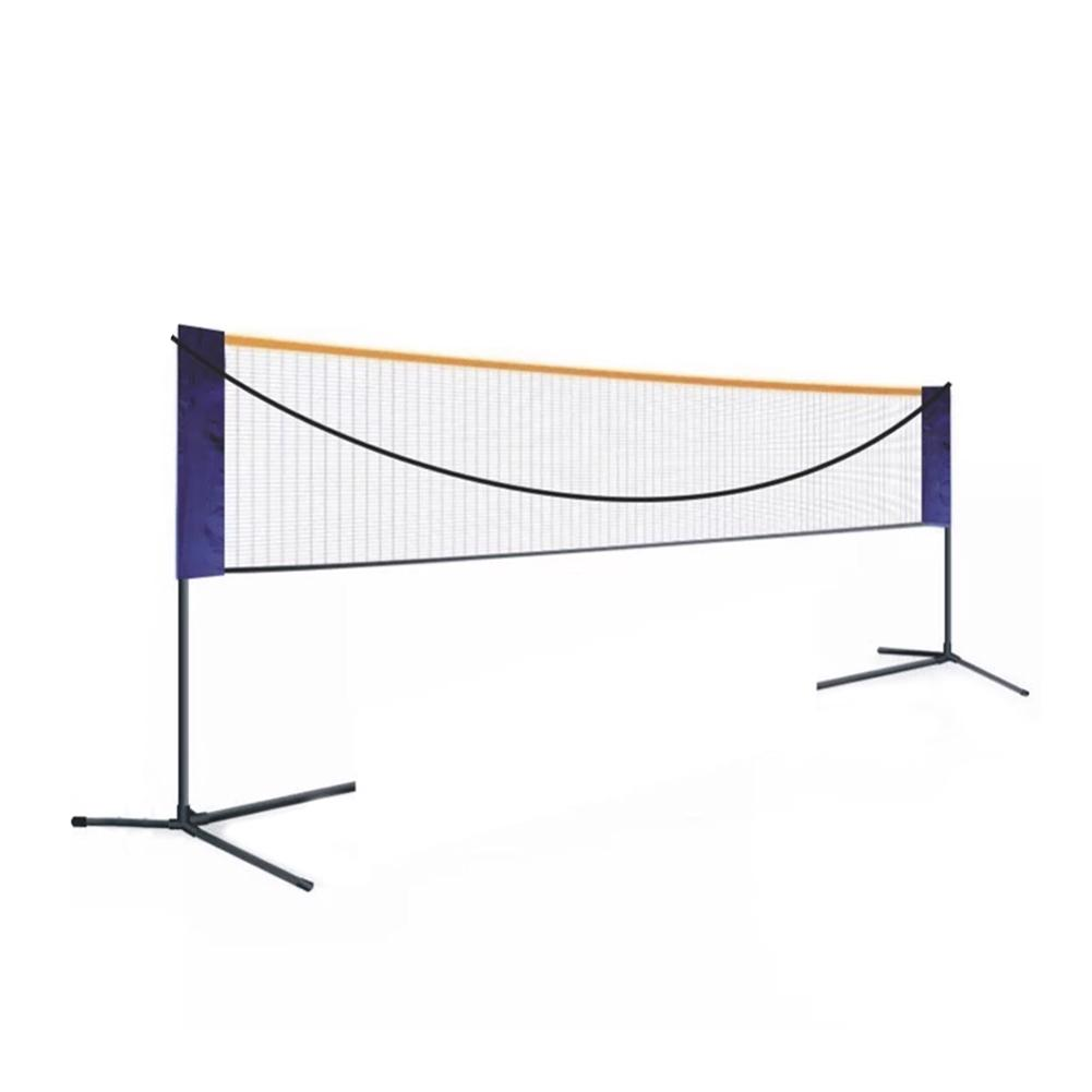 Outdoor Portable Volleyball Net Rack Folding Adjustable Volleyball Net Rack Beach Grass Park Badminton Net Rack Good Quality