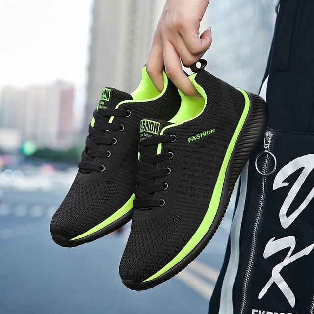 Unisex Giày Thoáng Khí Giày Thường Người Đàn Ông Không Khí Lưới Căn Hộ Giản Dị Giày Kích Thước Lớn 47 Người Đàn Ông 2019 Mùa Xuân Sneakers Zapatillas Hombre