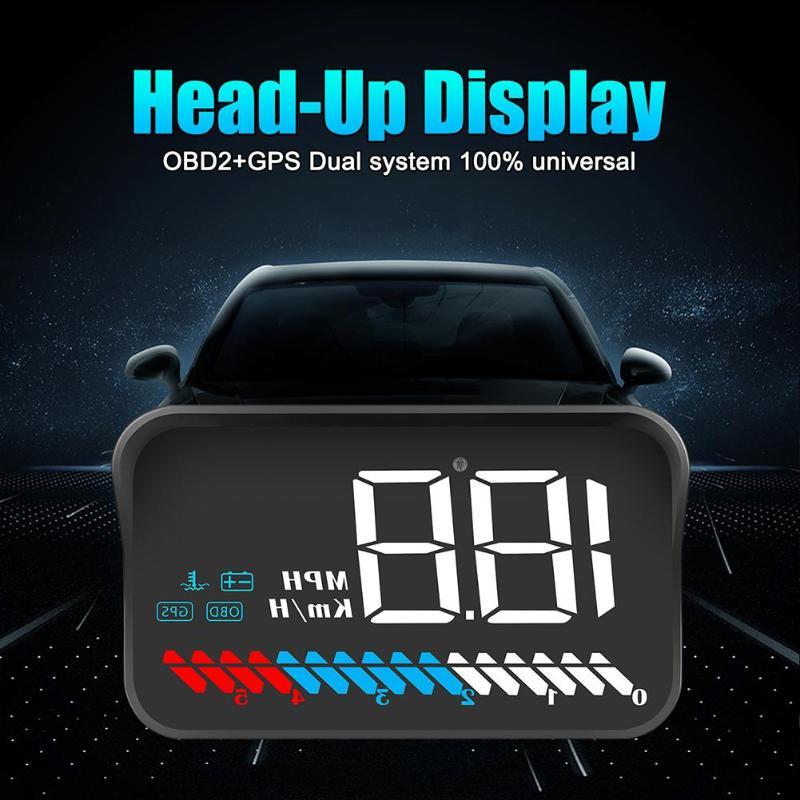 VODOOL M7 Car HUD OBD GPS Car Head Up Display Windshield Overspeed Warning Projector Alarm Car Electronics Accessories