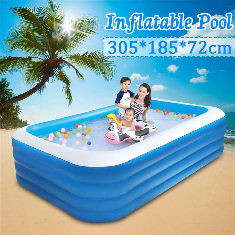 305x185x72cm Childrens Home Use Paddling Pool Large Size Inflatable Square Swimming Pool Heat Preservation Kids inflatable Pool305x185x72cm Childrens Home Use Paddling Pool Large Size Inflatable Square Swimming Pool Heat Preservation Kids inflatable Pool