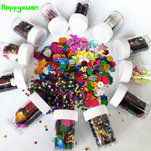 Happyxuan 12bottles Kids DIY Mixed Glitter Sequins Painting Handicrafts Decoration Supplies Creative Toy For Children Girls Gift(China)