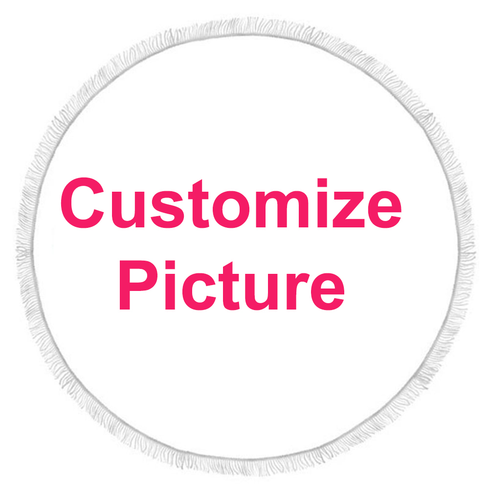 Customize Dropshipping Printed Round Beach Towel For Adult Yoga Mats Leaves Microfiber With Tassels 150cm