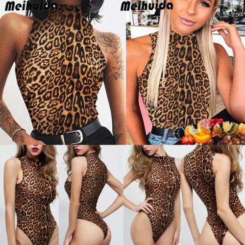 New Women's Sexy Sleeveless Stretch Leotard Bodysuit Jumpsuit Romper Top