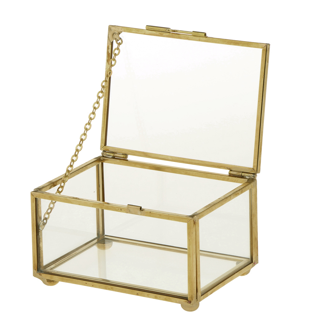 Geometric Glass Style Jewelry Box Table Container For Displaying Jewelry Keepsakes Home Decoration Plants Container Ewelry Sto
