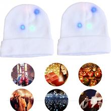 Adult Kids Funny LED Light Beanie Cap Luminous Birthday Xmas Party Gifts  Knitted Hat Glowing Flashing 2e33fc757e45