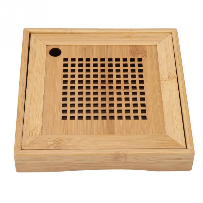 Mini Square Bamboo Tea Tray 1
