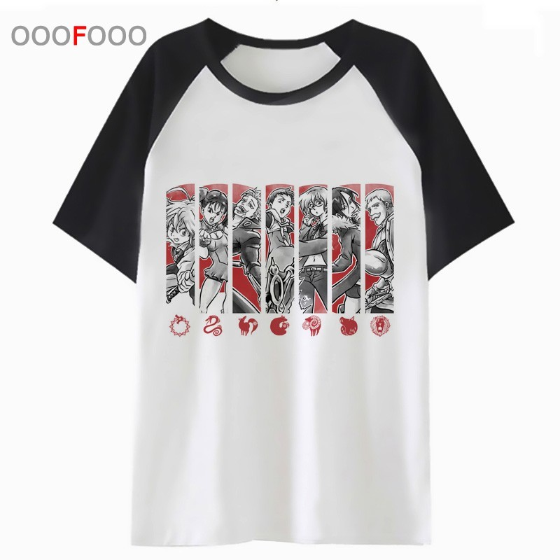 nanatsu no taizai t shirt male tee t-shirt harajuku <font><b>funny</b></font> <font><b>tshirt</b></font> top hip clothing for men streetwear hop PNN736 image