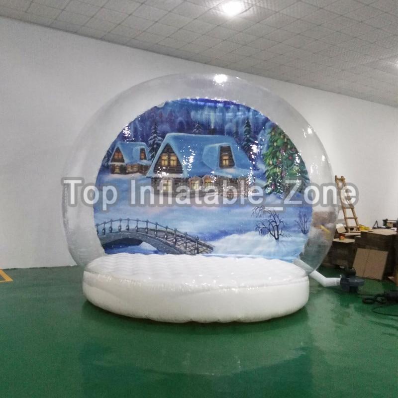 Globe de neige gonflable de 2 M/3 M/4 M Dia pour la publicité belle cabine de Photo transparente pour les personnes boule de neige de décoration de noël