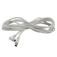 PAL Male to Male TV Lead Shielded Aerial Coaxial Cable 5M 16.4ft White