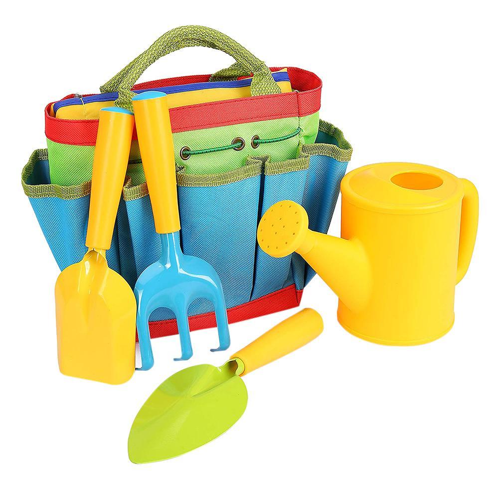 5PCS Children's Gardening Tool Set Integrated Garden Tool Storage Handbag Playing Sand Toys Gardening Gifts For Children Kids