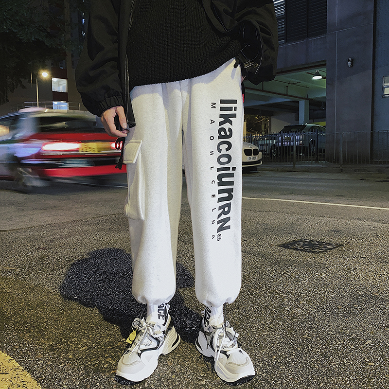 Cargo Pants Korean-Fashion Loose-Tooling Japanese-Style Men's Casual Warm Free-Postage-Thick