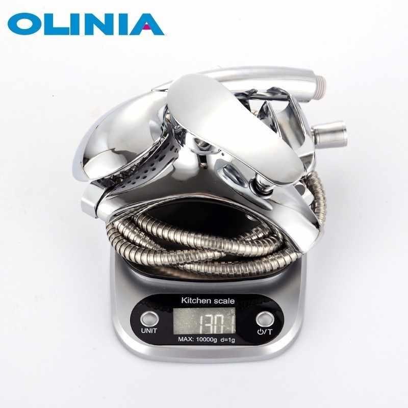 Olinia смеситель для ванной для душа смеситель для ванны с душем настенный душевая система душевой комплект в форме водопада OL8092