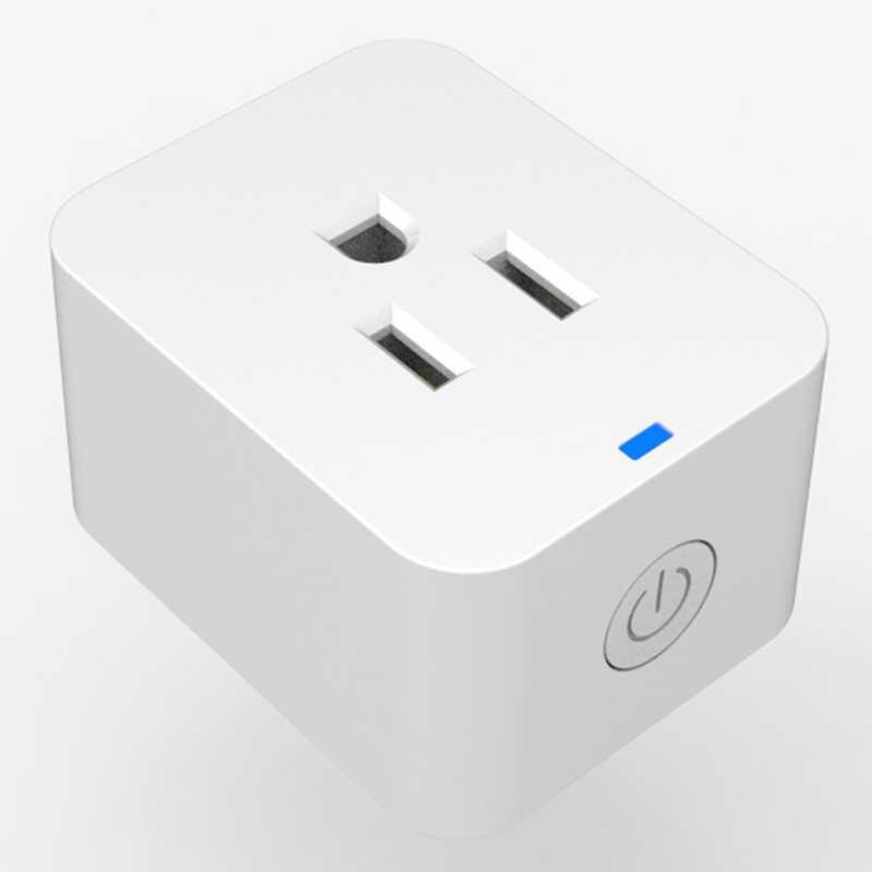 Hoa Kỳ Cắm Mini Ổ Cắm Thông Minh 10A Wifi Cắm Công Tắc Định Thời Gian Điều Khiển Giọng Nói Làm Việc Với Alexa Google Trợ Lý