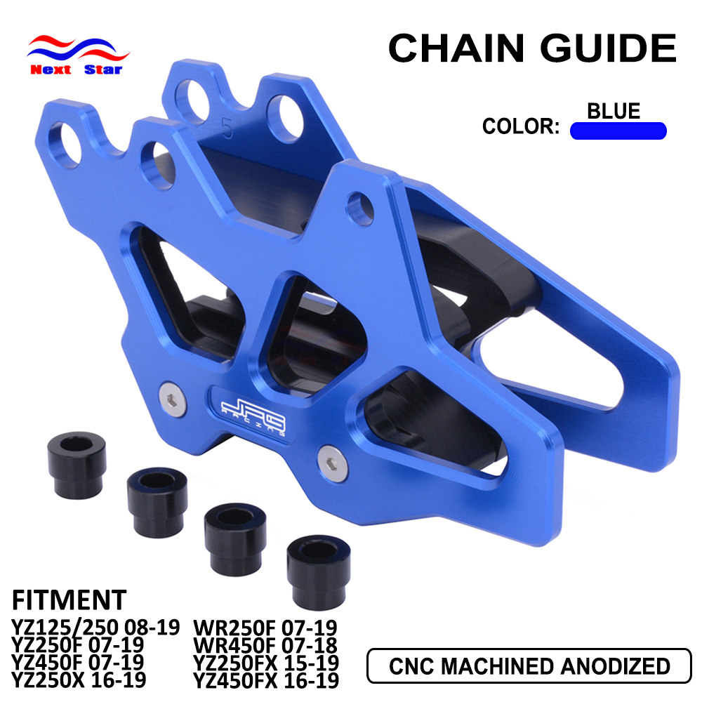 Chain Guard Guide Motorcycle Aluminum For Yamaha YZ WR 125 250 250X 450F <font><b>450</b></font> F FX 2006 07 08 09 10 11 12 13 14 <font><b>15</b></font> 16 17 18 19 image