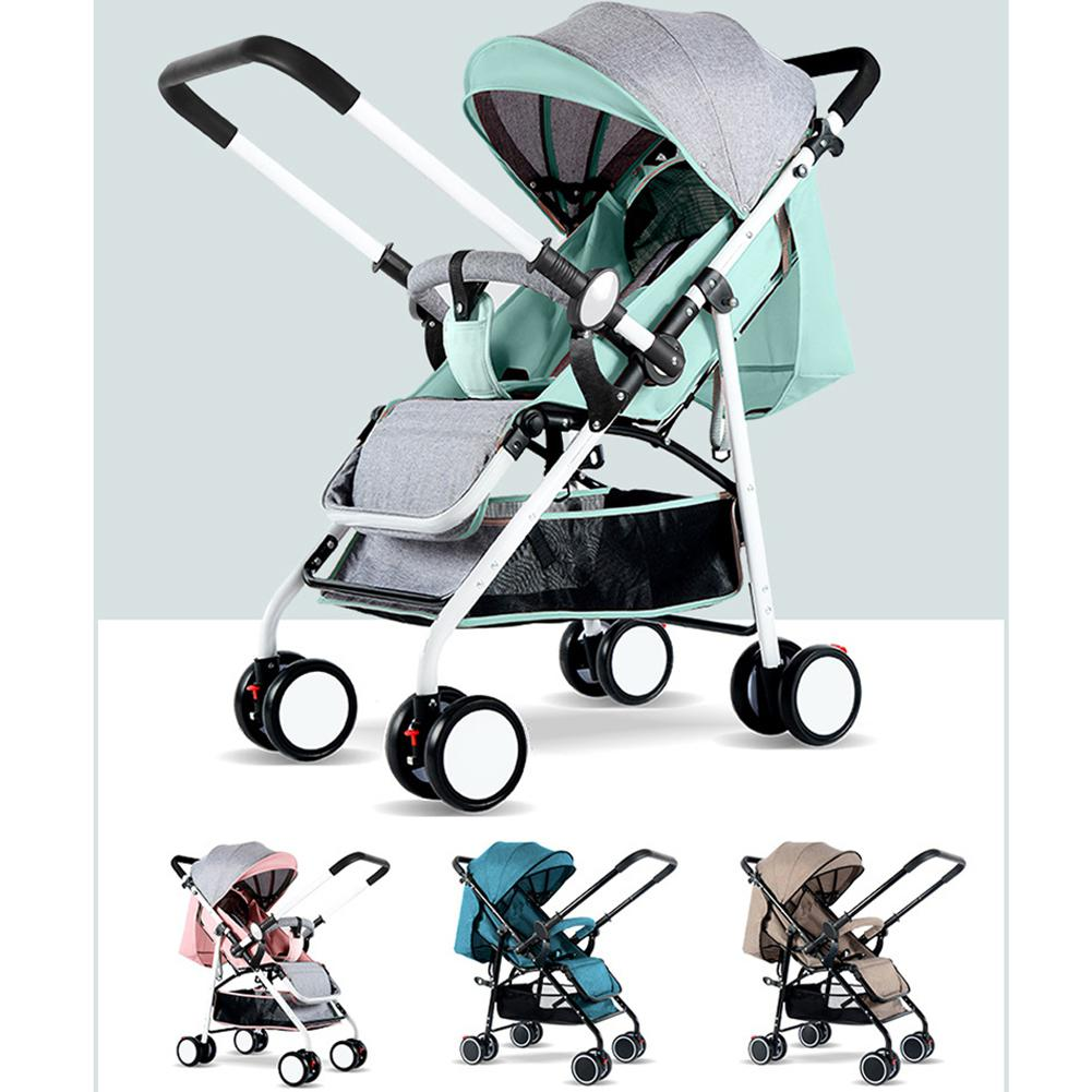 Kidlove Baby Infant Shock-proof Folding Stroller Ultra Light High Landscape Baby Stroller Carriage Baby Bassinet 0-3Y