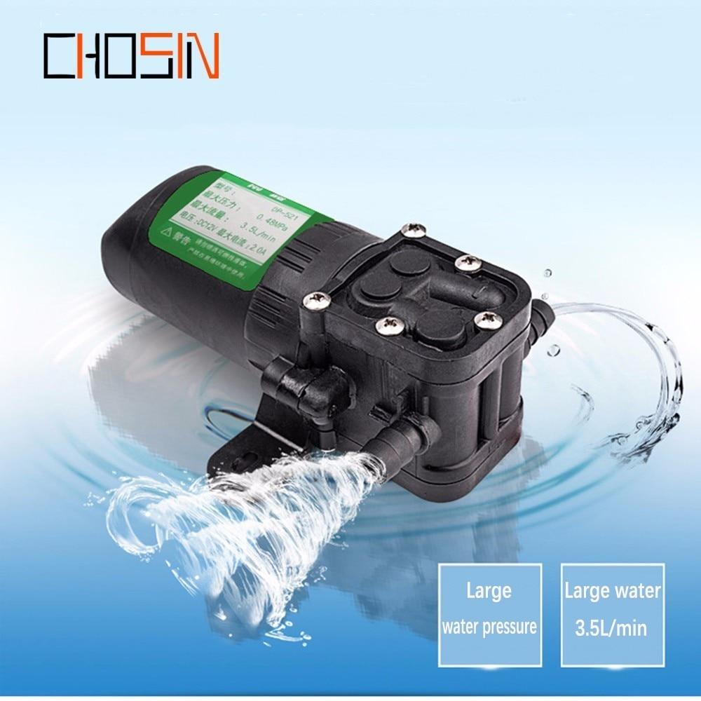 Agricultural Electric Water Pump Durable Dc 12v 70psi 3.5l/min Black Micro High Pressure Diaphragm Water Sprayer Car Wash 12 V