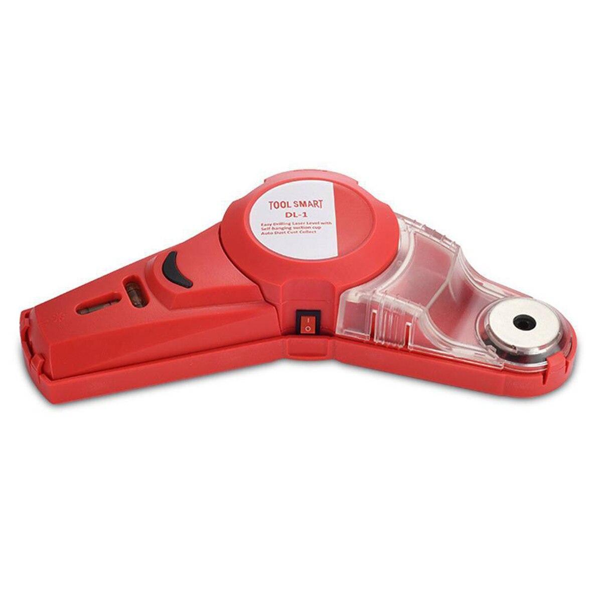 Herramientas Portátiles de nivel láser de 650nm localizador de nivel láser infrarrojo colector de polvo de fácil perforación con ventosa autocolgante