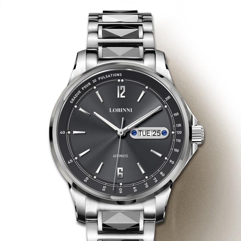 Luxus Marke LOBINNI Schweiz Uhr Männer Japan MIYOTA Automatische Mechanische herren Uhren Saphir Wasserdicht relogio L9012 4-in Mechanische Uhren aus Uhren bei  Gruppe 3