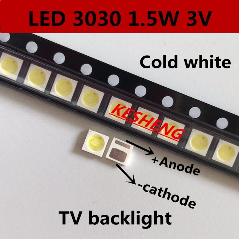 1000pcs/aot High Power Led Backlight 1.5w 3v 3030 94lm Cool White Backlit Lcd Screen For Tv Applications Emc 3030c-w3c3 Lovely Luster