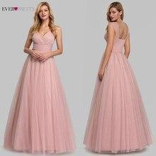 Elegant Pink Bridesmaid Dresses Long Ever Pretty A-Line Sleeveless Sweetheart Wedding Party 2019 Vestido De Festa Longo