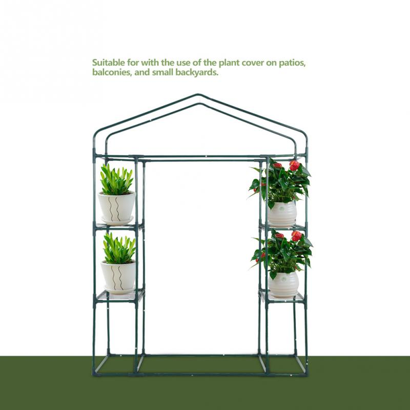 Garden Greenhouses 143 X 73 X 195cm 4 Tier Mini Greenhouse Iron Stands Shelves Garden Balconies Patios Decor Sale Overall Discount 50-70%