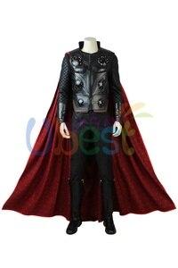 Image 2 - Nouveau déguisement de Cosplay Avengers Infinity War Thor avec cape tenue de super héros dhalloween pour hommes adultes