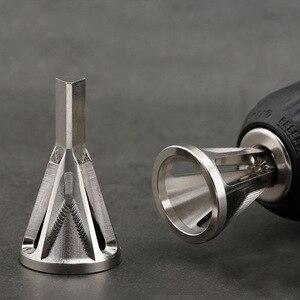 Image 5 - CHR12 楽章ステンレス鋼バリ取り外部面取り工具ドリルビット削除バリシルバータイヤ修理ツール