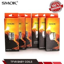 100% Original SMOK Baby Coils TFV8 Baby Tank Big Baby Atomizer 0.15 0.25 ohm V8 Baby-M2 Replacement Head Core Replacement Coil цена